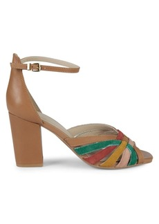 Seychelles Leather & Suede Ankle-Strap Heeled Sandals