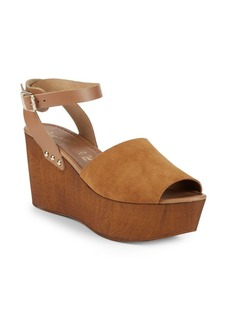 Seychelles Paddle Suede Ankle-Strap Wedge Sandals