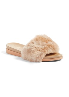 Seychelles Beyond Reason Faux Fur Slide Sandal (Women)
