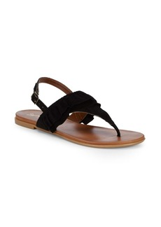 Seychelles Heavy Hitter Slingback Thong Suede Sandals