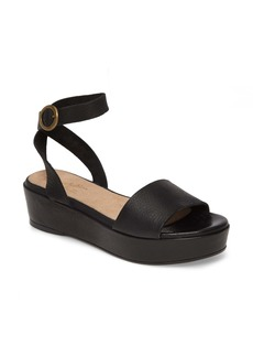 Seychelles Monogram Platform Ankle Strap Sandal (Women)
