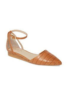 Seychelles Plateau Ankle Strap Pointed Toe Flat (Women)