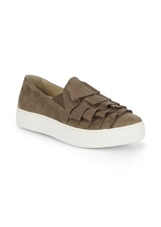 Seychelles Slip-On Suede Ruffle Sneakers