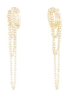 Shashi Adisa Chain-Link Huggie Hoop Earrings