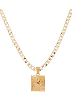 Shashi Baroness Flower Tag Chain Necklace