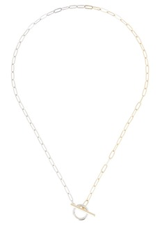 Shashi Patron Remix Two-Tone Toggle Necklace