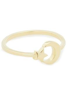 Shashi Woman Moon Star 18-karat Gold-plated Ring Gold