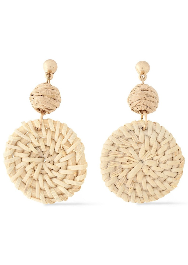 Shashi Woman St. Barths Gold-plated Rattan Earrings Neutral