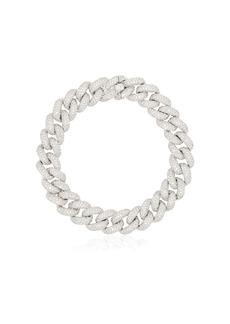 Shay 18kt gold and diamond 6.5 inch link bracelet