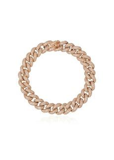 Shay 18kt yellow gold diamond chunky chain bracelet
