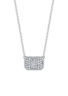 Women's Shay Baguette Diamond Pave Pendant Necklace