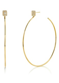 Women's Shay Diamond Baguette Hoop Earrings