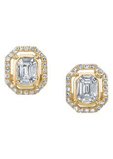 Women's Shay Diamond Pave Halo Earrings