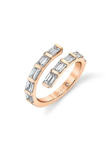 Women's Shay Dual Spiral Baguette Diamond Ring