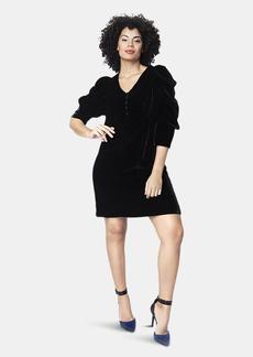 Shegul Kristal Velvet Dress // Black - XL - Also in: M, L, S, XS
