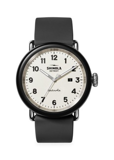 Shinola Detrola The Penguin Stainless Steel & Silicone Strap Watch