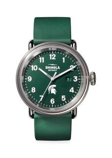 Shinola Detrola The Spartan Stainless Steel & Silicone Strap Watch