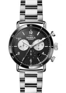 Shinola Men's Canfield Sport Silver Bracelet Watch, 40mm