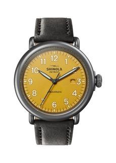 Shinola Runwell Automatic Leather Strap Watch