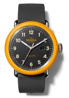 Shinola Detrola No.2 Silicone Strap Watch, 43mm