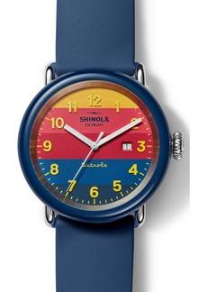 Shinola Detrola The Honcho Silicone Strap Watch, 43mm