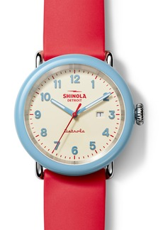 Shinola Detrola The SPF Silicone Strap Watch, 43mm