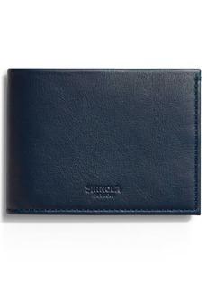 Shinola Leather Slim Bifold Wallet