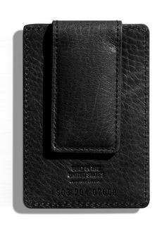 Shinola Money Clip Card Case