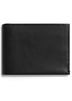 Shinola Perforated Slim Bifold Wallet