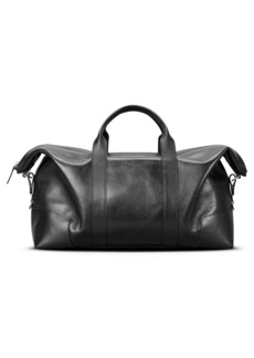 Shinola Signature Leather Duffle Bag