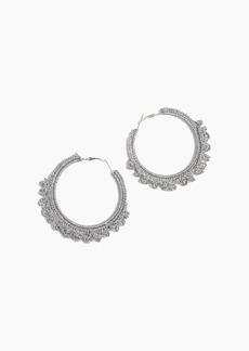 Shiraleah Emme Crocheted Hoop Earrings