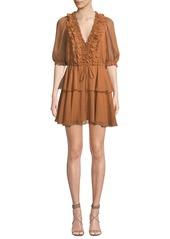 Shona joy ambra fit and flare puff sleeve ruffle dress abvba9983c0 a
