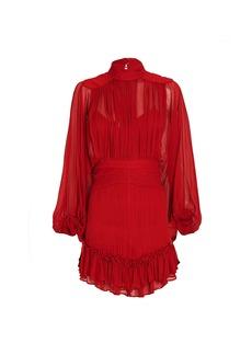 Shona Joy Clemence Chiffon Mini Dress