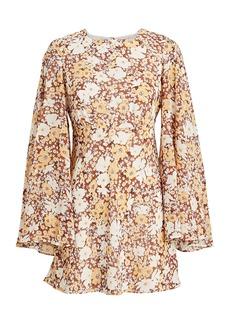Shona Joy Dixie Floral Circle Sleeve Dress
