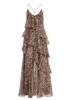 Shona Joy Garner Floral Chiffon Maxi Dress