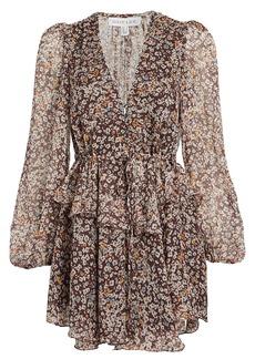 Shona Joy Garner Floral Chiffon Mini Dress