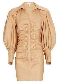 Shona Joy Grant Ruched Poplin Shirt Dress