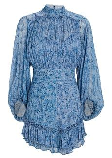 Shona Joy Harmony Floral Chiffon Mini Dress