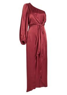 Shona Joy Joan One-Shoulder Draped Dress