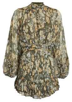 Shona Joy Jolie Floral Chiffon Mini Dress