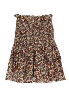 Shona Joy Josephine Ruffled Floral Mini Skirt