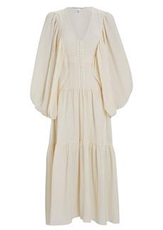 Shona Joy Mila Tiered Chiffon Midi Dress