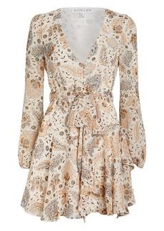 Shona Joy Miller Floral Crepe Mini Dress