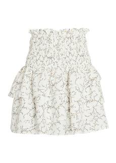 Shona Joy Monique Smocked Floral Mini Skirt