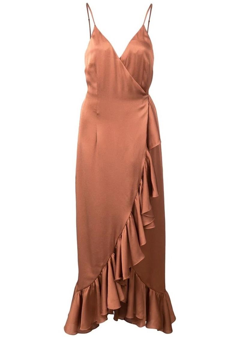 Shona Joy ruffled wrap dress