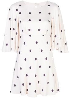 Shona Joy Shelby pola dot mini dress