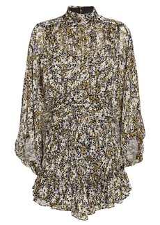 Shona Joy Valentina Ruched Chiffon Mini Dress