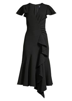 Shoshanna Adrina Ruffle Flare Dress