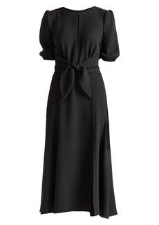 Shoshanna Ambrose Tie-Waist Dress