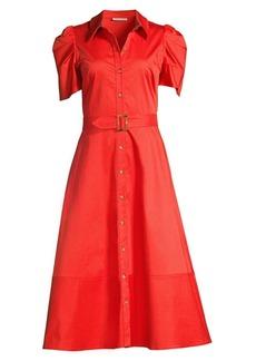 Shoshanna Annette Puff-Sleeve Shirtdress